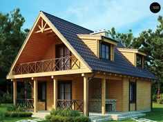 23 Ideas Home Design Exterior Simple Dreams Hut House, Tiny House Cabin, Style At Home, Casas Tudor, Refuge, Attic Design, Small House Design, Dream House Plans, Wooden House