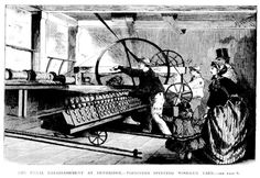 The Penal Establishment at Pentridge - Prisoners Spinning Woollen Yarn 1867