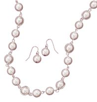Twining Pearlesque Necklace & Earrings Gift Set, youravon.com/maureenfox