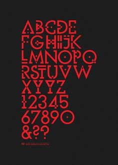 Typography Alphabet :: Nutura is an Experimental Typeface Based on the Geometric Deconstruction of Futura