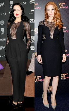 Fashion face-off! Who wore this Gucci look best? Dita Von Teese or Jessica Chastain?
