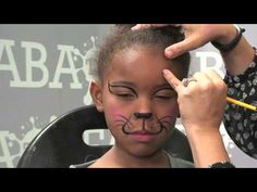http://www.sillyfarm.com - A quick and easy feline face painting design using only pink and black followed by some glitter! Start off with your sponge to add...