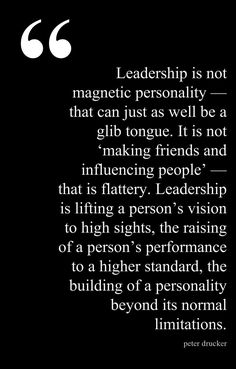 Peter Drucker #leadership #influence #performance