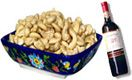 Roasted Cashew nut with Red wine for Hyderabad delivery. Fast and same day gifts delivery to all location in Hyderabad delivery.   Visit our site : www.flowersgiftshyderabad.com/DryFruits-to-Hyderabad.php