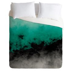 Caleb Troy Zero Visibility Emerald Duvet Cover | DENY Designs Home Accessories