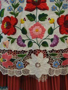 Kalocsa folk costume, detail of apron