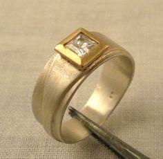 Handmade engagement ring by Christensen Heller Gallery