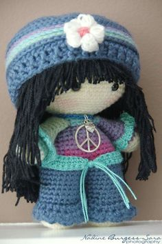 CROCHET - BIG HEAD DOLL - BABYDOLL YO-YO - HIPPIE