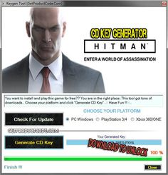 HITMAN CD Key Generator 2016