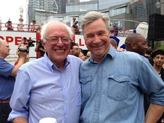 Senators Bernie Sanders (D-VT) and Sheldon Whitehouse (D-RI), joining over 400,000 demonstrators in NYC at the People's Climate March on Sept. 21, 2014.