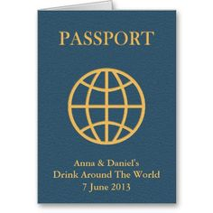 """""""Drink Around The World"""" Passport Card.. International Food And Wine Festival. Awesome"""