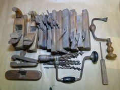 Online veilinghuis Catawiki: Lot antieke timmermanswerktuigen - eind 19e en begin 20e eeuw.