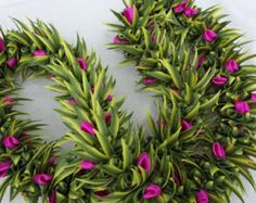Cytisus scoparius ribbon lei by AlohaRibbonCrafts on Etsy