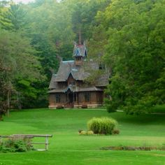 Picture taken by Angelia Whaley of a twelfth century Norwegian Church (stavkirke) @ Little Norway in Wisconsin