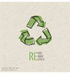 Pagina de vectores gratissssss... Reuse reduce recycle poster vector