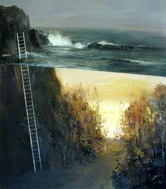 Dreamlike Split-Level Landscapes Painted by Jeremy Miranda