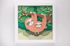 Whimsical Paper Animal Illustrations Vaclav Bicha  Strictlypaper Sloth_front