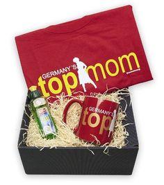 """Dieses Muttertag - Geschenkset ist witzig, kreativ und das perfekte Geschenk zum Muttertag. Küren Sie Ihre Mutter zur """"Germany's Top Mom""""."""