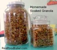 Homemade Soaked Granola - food storage!