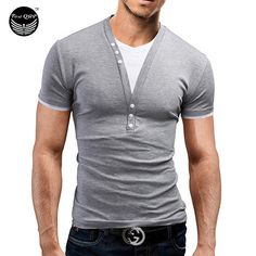 Male TShirts Short Sleeve Fake 2 V-Neck Slim Men T-Shirt Camisetas Fashion Hombre Tee Homme