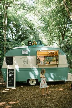 Vintage Caravan Bar | Outdoor Wedding UK At Woodland Weddings With Bridesmaids In Blush Pink TH&TH Dresses With Images From Chris Barber Photography