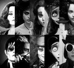 Dark Shadows, Sweeney Todd, Alice in Wonderland, Les Noces Funèbres, Charlie et la Chocolaterie.