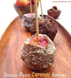 Sugar-Free Caramel Apples by Dreena Burton #vegan #glutenfree #raw