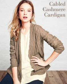 Cabled Cashmere Cardigan [Promotional Pin]