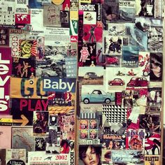 almost 10 years before Tumblr (or Pinterest): my first moodboard.