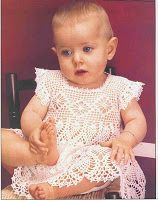 crochet baby dress - lacey things