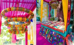 Instead of handing out gifts at the end of the mehendi, have a bangle booth and let guests pick out their own.
