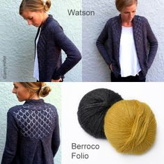 1af515f8a8a07e Watson by Amy Miller on Ravelry. Lace panels edge the fronts and top the  back · Knit Or CrochetPattern DesignKnitsCrochet ...