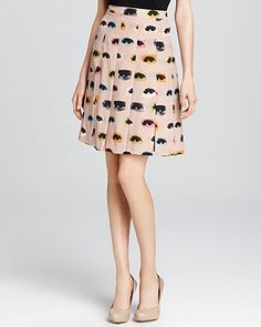 Moschino Cheap and Chic Skirt - Printed Pleated | Bloomingdale's