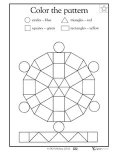 math worksheet : free geometry worksheets  color by sides plus many more  math  : Free Kindergarten Math Worksheets