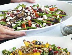 Low FODMAP Recipe - Mediterranean feta salad with pomegranate dressing ...