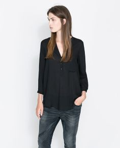 ZARA - WOMAN - THREE-QUARTER SLEEVE BLOUSE