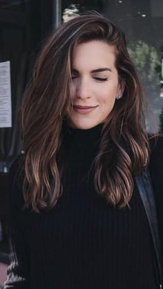 Long Wavy Ash-Brown Balayage - 20 Light Brown Hair Color Ideas for Your New Look - The Trending Hairstyle Brown Ombre Hair, Ombre Hair Color, Light Brown Hair, Brown Hair Colors, Medium Hair Cuts, Medium Hair Styles, Short Hair Styles, Brown Hair Medium Length, Medium Long Hair