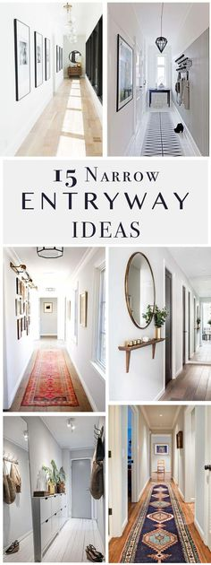 Do you to make your long narrow entryway or hallway appear bigger? These narrow . Do you to make your long narrow entryway or hallway appear bigger? These narrow entryway ideas will Entryway Paint, Entryway Stairs, Apartment Entryway, Entryway Ideas, Entryway Decor, Entryway Tables, Apartment Design, Narrow Hallway Decorating, Narrow Entryway