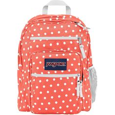 Jansport Big Student Backpack ($46) ❤ liked on Polyvore featuring bags, backpacks, padded backpack, jansport bags, handle bag, padded bag and day pack backpack