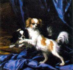 Queen Hedvig Eleonoras Spaniels ( 1889 ) by : David Klöcker Ehrenstrahl - German/Swedish court painter ( 1628 - 1698 )