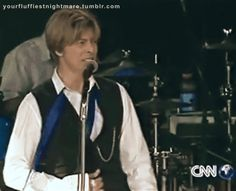 David Bowie during the Area 2 Festival, 2002 -                                         famous and brightest darling
