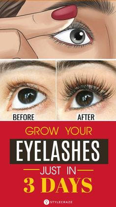 grow lashes 9 Natural Remedies To Get Beautifully Long Eyelashes: Read on to know how to get long and healthy lashes with simple home remedies. Let us take a look at how to make eyelashes longer and beautiful naturally. Make Eyelashes Longer, Get Long Eyelashes, How To Grow Eyelashes, Curling Eyelashes, Thicker Eyelashes, Vaseline Eyelashes, Eyelashes Drawing, Perfect Eyelashes, Magnetic Eyelashes