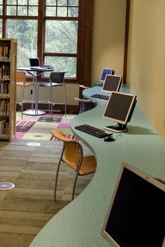 Computers in the teen area - Delta Township District Library, Lansing, MI