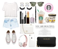 """""""Namastae in Bed"""" by tillybushell on Polyvore featuring MANGO, Converse, Chanel, MAC Cosmetics, Tom Ford, Armani Beauty, Tory Burch, Ray-Ban and Michael Kors"""
