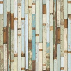Living Room Accent Wall: Scrapwood Wallpaper, available at Future Perfect ... we chose to hang it horizontally. #CousinsOnCall