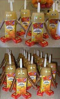 'Healthy' Snack fun.  Replace Hi-C with 100% fruit juice