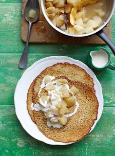 buckwheat crepes with poached apple & pear   Jamie Oliver   Food   Jamie Oliver (UK)