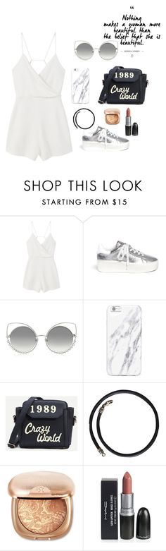 """""""👩🏻"""" by helena-viterbo ❤ liked on Polyvore featuring MANGO, Ash, Marc Jacobs, Bulgari and sleevelessjumpsuits"""