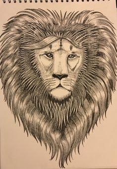Caroline Songi Cook Lion Head with Mane Wild Animals, Lion, Art, Leo, Craft Art, Lions, Kunst, Gcse Art, Wild Ones