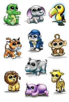 Zootoos Temporary Tattoo Set - cute favors for zoo themed birthday party